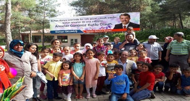 Türkoğlunda yetim çocuk gönüllerince eğlendi