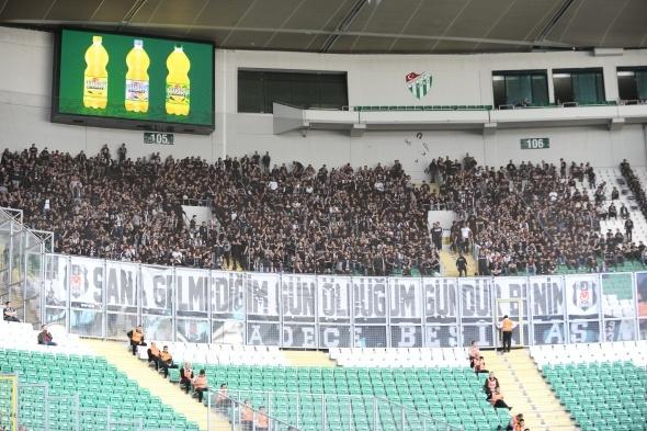 Bursaspor Beşiktaş maçı özel kareler