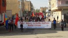 Nusaybinde gençlik yürüyüşü yapıldı
