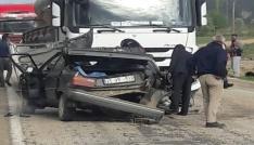 Gümüşhanede trafik kazası: 1 ölü, 1 yaralı