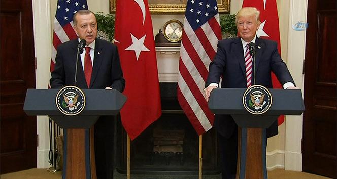 """Erdoğandan Beyaz Sarayda """"YPG/PYD"""" mesajı"""