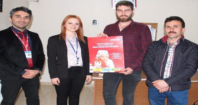 Yozgatta LÖSEVe kayıtlı ailelere gıda desteği