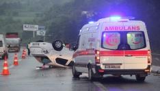 Bolu TEMde kaza: 5 yaralı