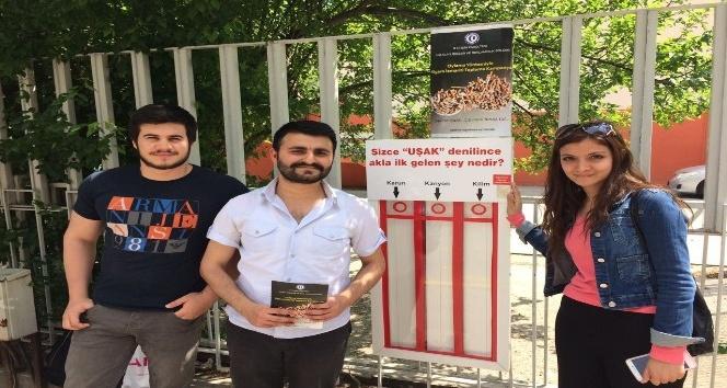 Uşakta oylar sigara izmariti panolarına atılıyor