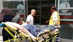Bisikletin çarptığı yaşlı adam yaralandı
