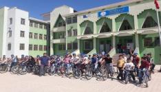 Ahmedi Hani Ortaokulunda bisiklet şenliği