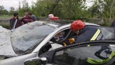 Seydişehirde trafik kazası: 2 yaralı