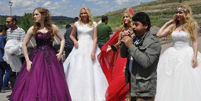 Rus mankenler Diyarbakır'ı salladı