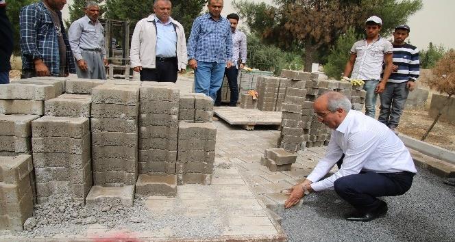 Ceylanpınar ilçe mezarlığında bakım onarım devam ediyor