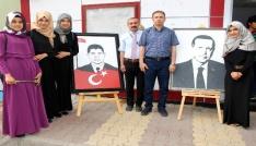 Atatürk Kız Anadolu İmam Hatip Lisesinden resim sergisi