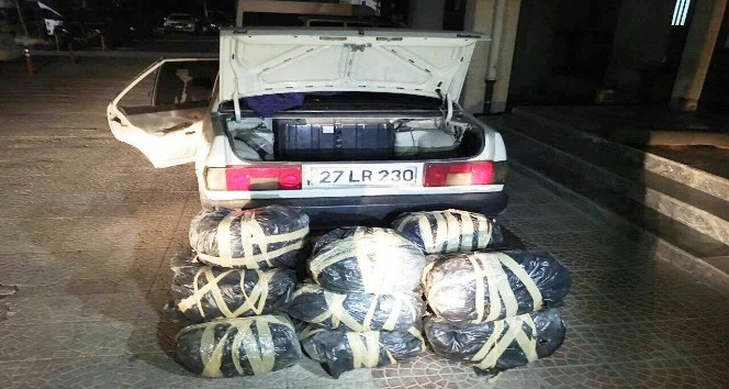 Şanlıurfada 76 kilo esrar ele geçirildi