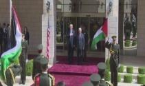 ABD Başkanı Trump, Filistin lideri Mahmud Abbasla görüşüyor
