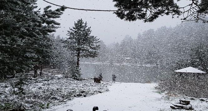 Gümüşhanenin yüksek kesimlerine lapa lapa kar yağdı