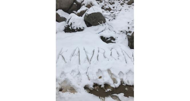 Kavron Yaylasında Mayıs karı