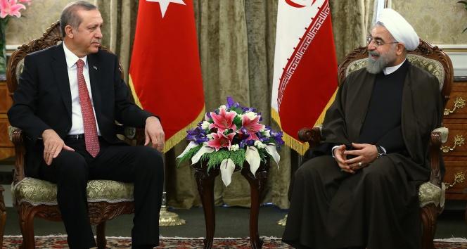 Cumhurbaşkanı Erdoğan, Ruhani ile görüştü !