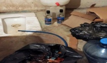 1 milyon TLlik kaçak içki tuvalet hortumuyla doldurulmuş