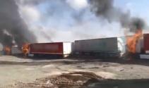 Tendürekte PKKlı teröristler araçları yakıp kaçtı