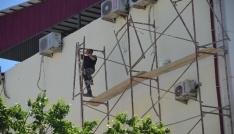 Iğdırda inşaat işçisi ölüme meydan okudu