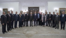 Başbakan Yıldırım, Çatalca ve Silivriden gelen köy muhtarlarını kabul etti