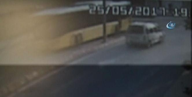 İstanbul'da hafriyat kamyonu terörü kamerada