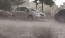 Bursada şiddetli yağmur ve dolu şoku