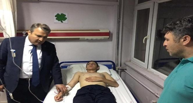Başkan Çerçiden tedavi gören askerlere ziyaret