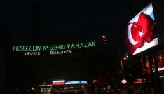 Devrek Belediyesi ışıklı mahyalarla şehri süslemeye başladı