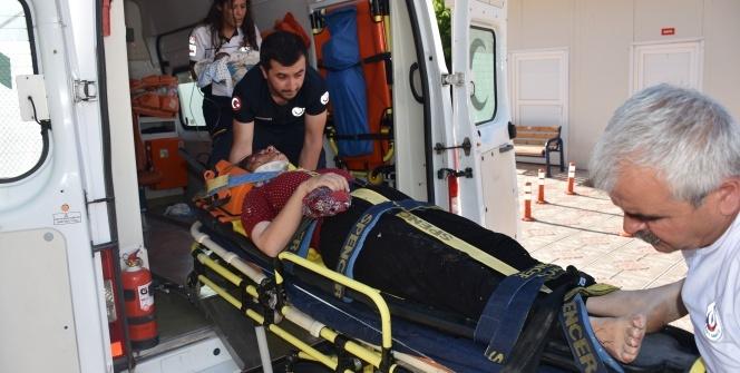 Adıyaman'da otomobil şarampole yuvarlandı: 5 yaralı
