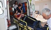Adıyamanda otomobil şarampole yuvarlandı: 5 yaralı
