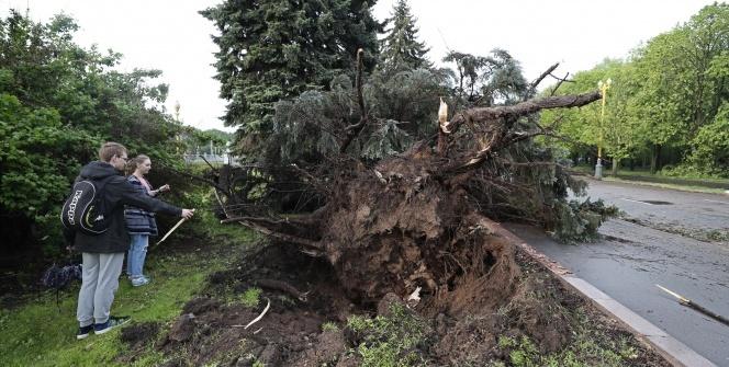 Moskova'da fırtına:13 ölü