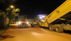 Bayburt Belediyesinden gece mesaisi
