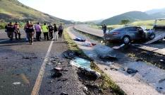 Yozgatta trafik kazası 1 ölü 2 yaralı