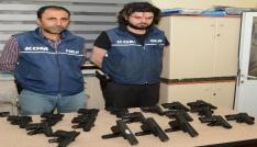 PKKnın silah taşıyıcısı 18 tabancayla Aksarayda yakalandı