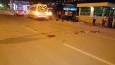 Motosiklet minibüse arkadan çarptı: 1 ölü,1 yaralı