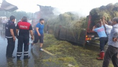 Seyir halindeki kamyonda yangın