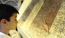 500 yıllık Kabe-i Şerif örtüsü büyük ilgi görüyor