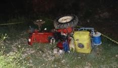 Karamanda traktör dere yatağına yuvarlandı: 1 ölü