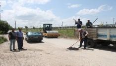 Dinarda asfalt yama çalışmaları başladı