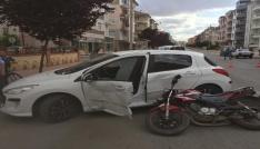 Karamanda trafik kazaları: 2 yaralı