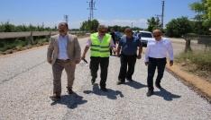 Karaman Belediyesi bahçe yollarını da asfaltlıyor