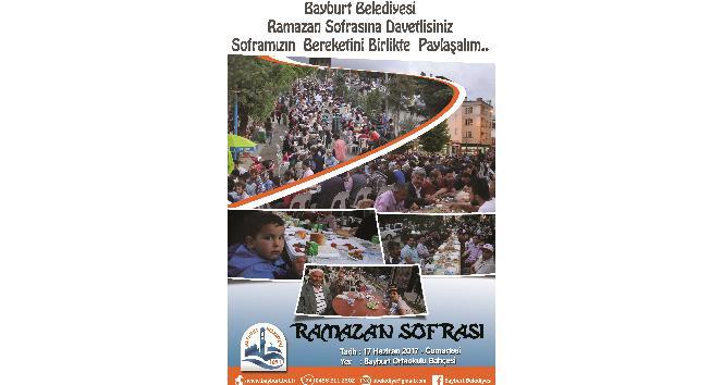 Bayburt 17 Haziranda sokak iftarında buluşuyor