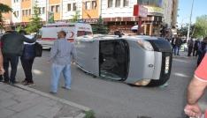 Karsta trafik kazası: 1 yaralı
