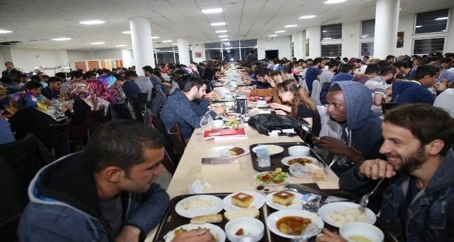 Bayburt Üniversitesinden yerli ve yabancı uyruklu öğrencilere iftar