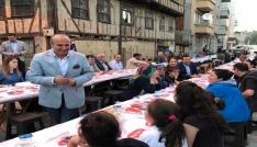Taşköprü mahalle iftarlarına yoğun katılım