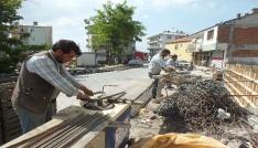 Malazgirtte inşaat işçilerinin zorlu Ramazan mesaisi