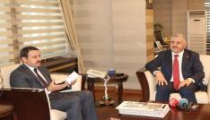Ulaştırma Bakanı Arslan Vali Işınla Görüştü
