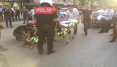 Motorize polis ekibi kaza yaptı, 1i polis 2 kişi yaralandı