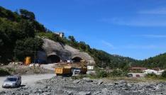 Rizede Salarha Tünelinin delme çalışmalarında bin 600 metrelik mesafe alındı