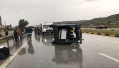 Tosyada kamyonet devrildi: 1 yaralı