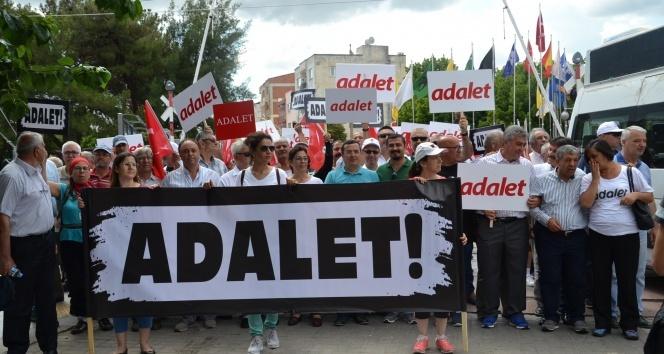 """İzmir CHP, """"Adalet Yürüyüşü""""ne Saruhanlı'da devam etti"""